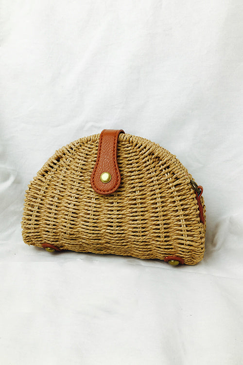 Shell Shape Woven Mini Bag