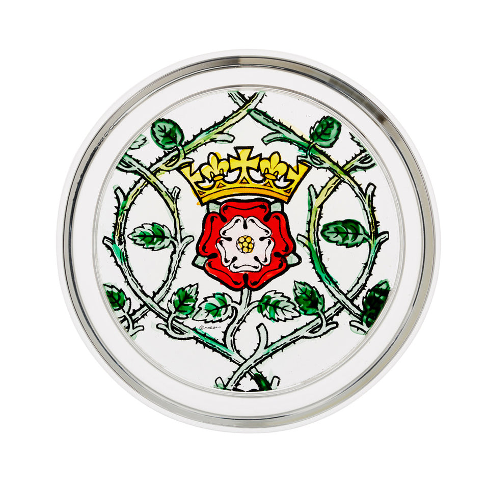 Stained Glass Tudor Rose Paperweight featured image