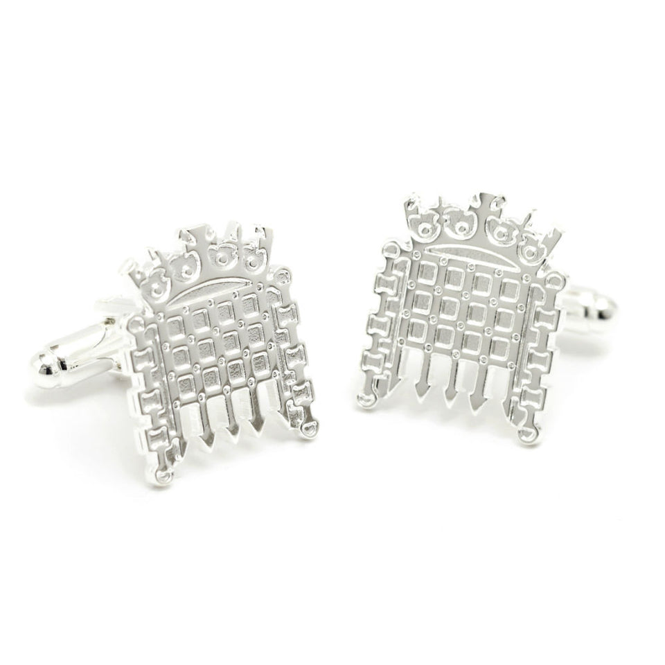 Silver Portcullis Cufflinks featured image