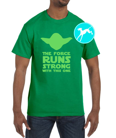 Disney Star Wars Yoda runs strong green shirt