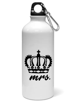 Mrs Queen Typography For Girls Water Sipper Sports Bottle