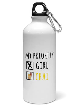 I Like Girl Or Chai Typographic Question Water Sipper Sports Bottle