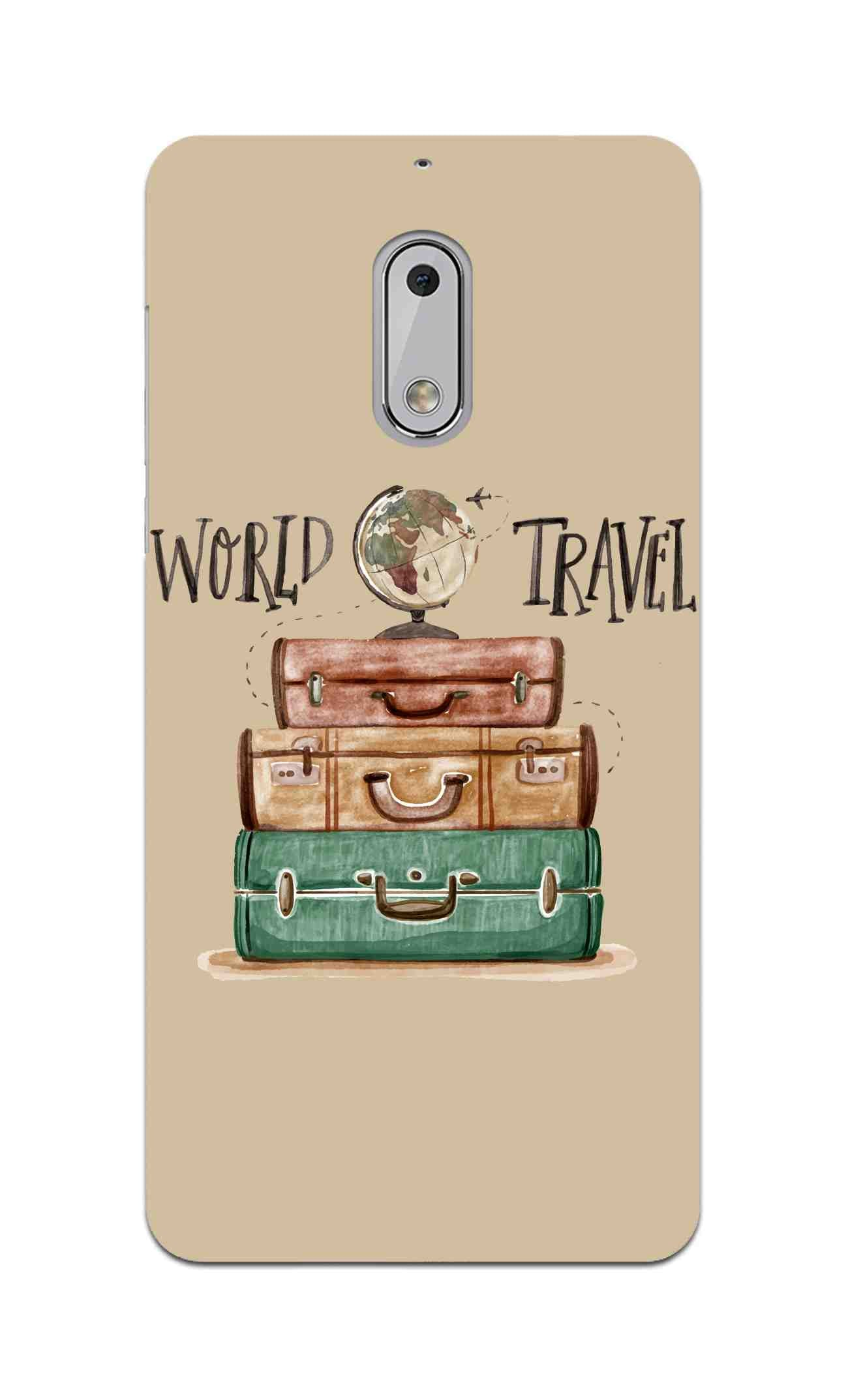 Travel World With Bags For Travellers Nokia 6 Mobile Cover Case