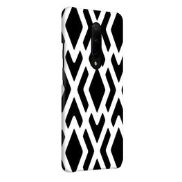 Black White Geometry OnePlus 7 Pro Cover Case (For Girls)