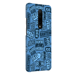 Doodles Blue Quote OnePlus 7 Pro Cover Case