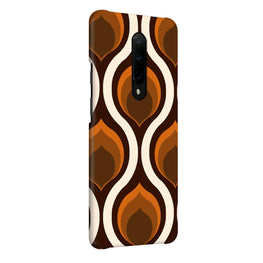 Random Brown Pattern OnePlus 7 Pro Cover Case (For Girls)