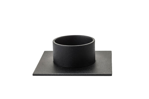 "Candlestick ""The Square"" black - Kunstindustrien"