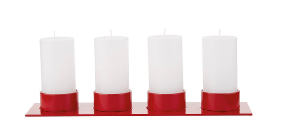 "Candlestick ""The Square"" red - Kunstindustrien for four 5cm candles"