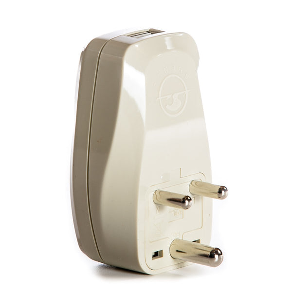 Maldives Travel Adapter Plug with USB and Surge Protection - Grounded Type D