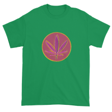 420/Weed Leaf Retro T-shirt Green, Black, S - 3XL 11fh11
