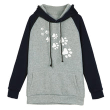 PawPrints Women Two Color Hoodie Sweatshirt