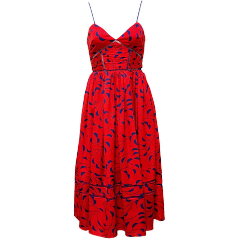 Red Print Azalea Dress