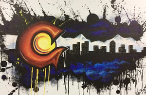 """Colorado Graffiti Flag"" - Mike Rogers"