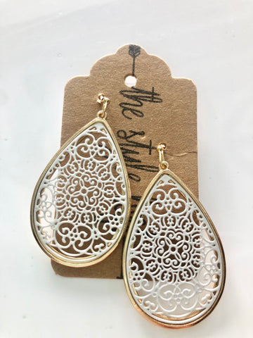 White Moroccan Tear Drop