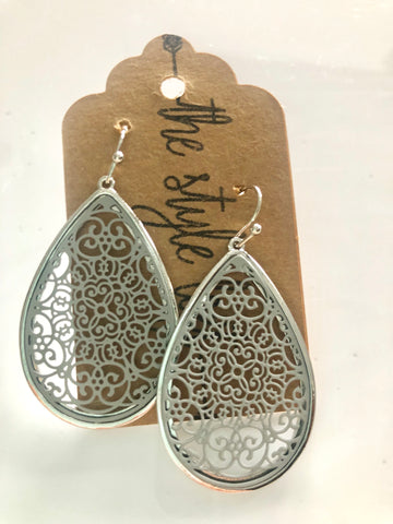 Grey Moroccan Tear Drop