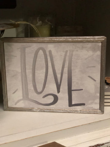 Love Silver Sign