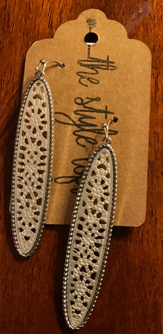Silver Two Tone Filigree Earrings
