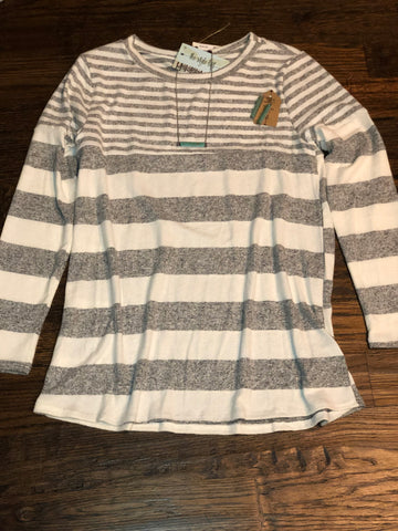 Heather Grey Striped Knit Tunic