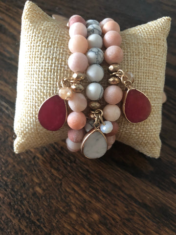 Soft Patterned Bead Bracelet