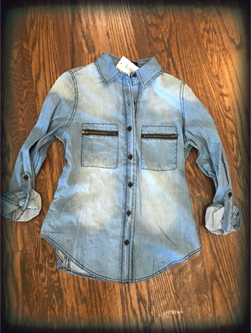 Light Denim Button Down