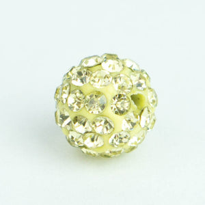 Crystal Pave Beads 12 mm Champagne