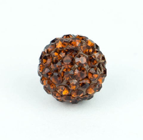 Crystal Pave Beads 8 mm Dk. Topaz