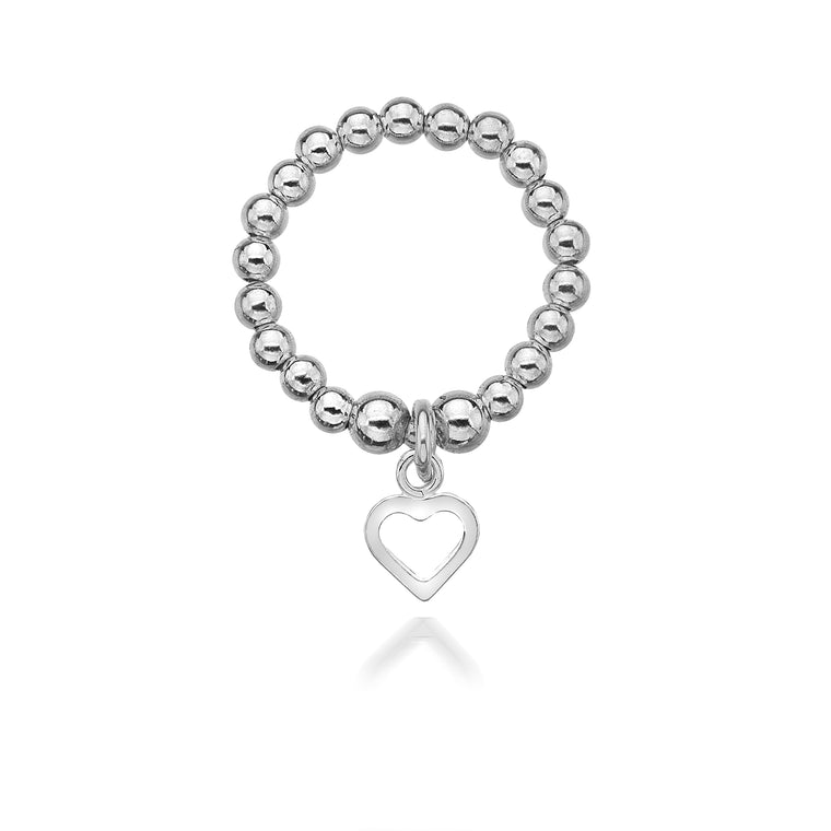 Annabelle Silver Heart Ring