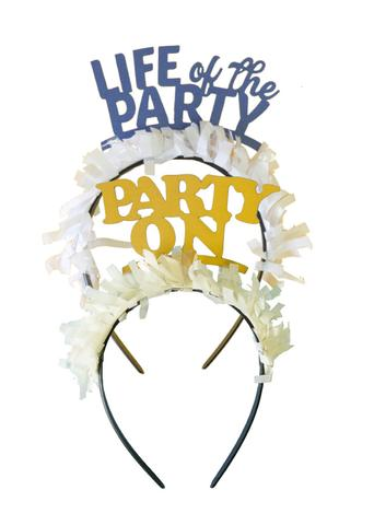 """life of the party"" Party Hat headbands"
