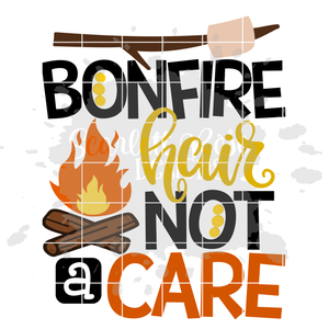 Bonfire Hair Not A Care SVG