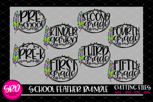 School Feather SVG Bundle