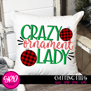 Crazy Ornament Lady SVG