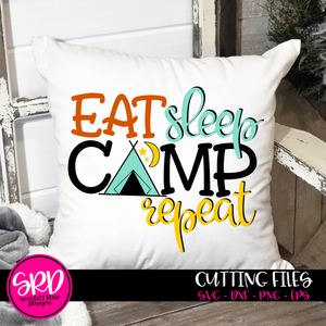 Eat Sleep Camp Repeat SVG