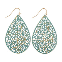 22492X   Long filigree drop earring