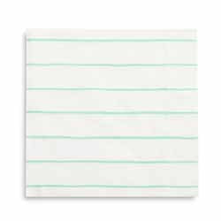 Frenchie Striped Mint Large Napkin-Paper Napkins-BerryPom & James