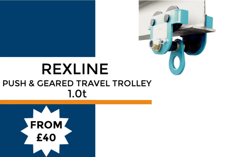 Rexline Push & Geared Travel Trolley - LTM Lift Turn Move