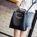 Fashion - Shoulder Bag (Black & Silver