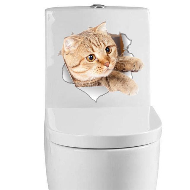 Cat sticker - Toilet stickers