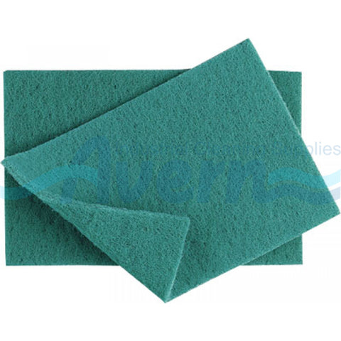 Green Scouring Pads, 10 per package