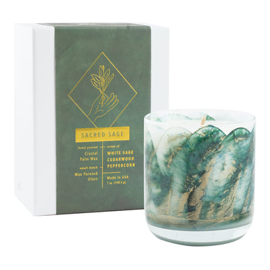 Northern Lights Candles / Meditation - Sacred Sage