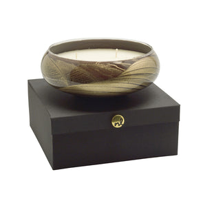 "Northern Lights Candles / 8"" Bowl - Ebony"