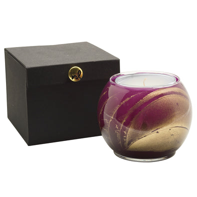 "Northern Lights Candles / 4"" Globe - Amethyst"