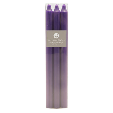 "Northern Lights Candles / 12"" Tapers 6pk - Purple"