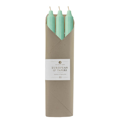 "Northern Lights Candles / 12"" Tapers 6pk Gift Set - Aqua"