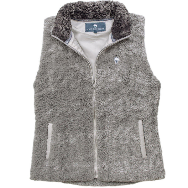 Heathered Zip Sherpa Vest - FINAL SALE - The Southern Shirt Co. - The Sherpa Pullover Outlet