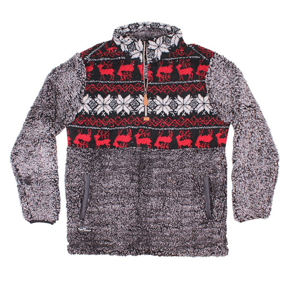 Deer Sherpa Pullover - FINAL SALE - Simply Southern - The Sherpa Pullover Outlet