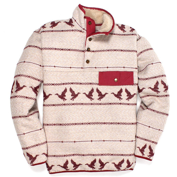 Duck Call Sherpa Lined Pullover - FINAL SALE - Southern Proper - The Sherpa Pullover Outlet