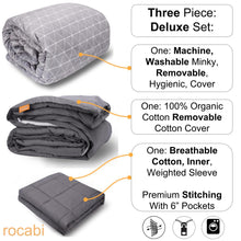 Bundle | Weighted Blanket & Two Removable Covers Set by rocabi - Adult Weighted Blanket by Rocabi