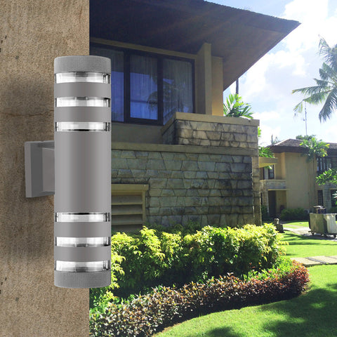 Aluminum Cuboid LED Wall Light Waterproof Outdoor Dual Head Wall Lamp
