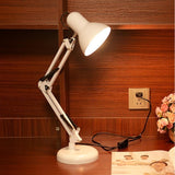 LED Clip Or Base Style Modern Long Swing Arm Adjustable Table for study Office Reading Night Light Bedside