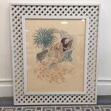Load image into Gallery viewer, Vintage Bohemian Deco Style Peacock Lithograph By Harry Wysocki